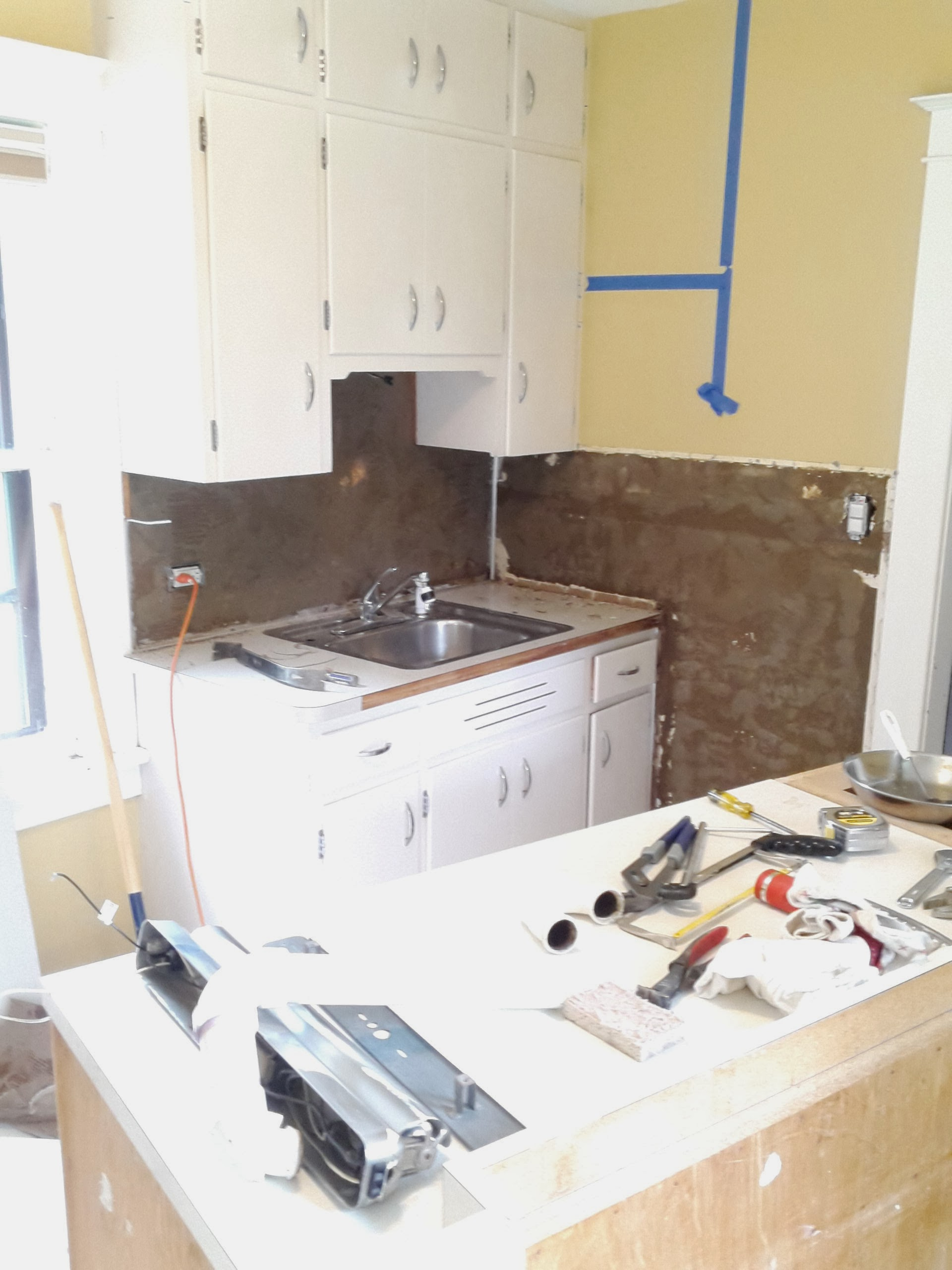 kitchen mid-renovation